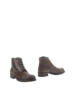 Полусапоги и высокие ботинки DEL GATTO. Цвет: темно-коричневый