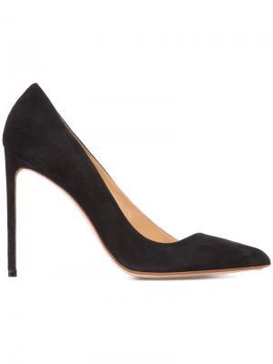 Туфли с асимметричным дизайном Francesco Russo. Цвет: чёрный