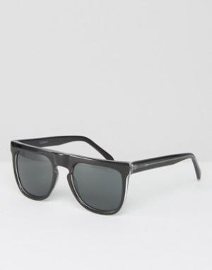 Komono Квадратные солнцезащитные очки Bennet. Цвет: черный