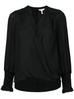 Блузка с запахом Rebecca Taylor. Цвет: чёрный