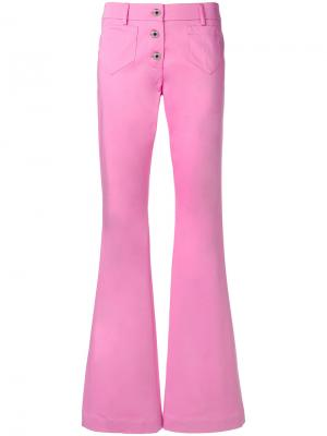 Расклешенные джинсы в стиле ретро Moschino. Цвет: розовый и фиолетовый