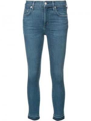 Укороченные джинсы кроя супер-скинни Citizens Of Humanity. Цвет: синий