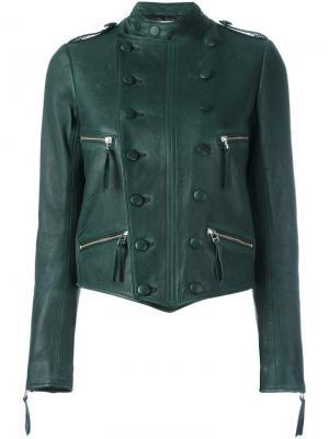 Двубортная куртка Faith Connexion. Цвет: зелёный