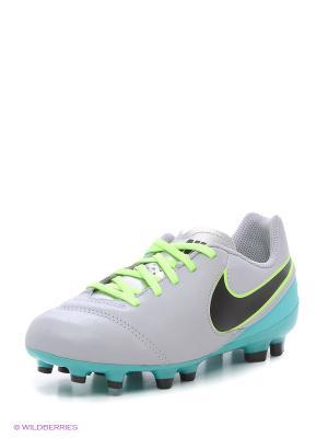 Бутсы JR TIEMPO LEGEND VI FG Nike. Цвет: зеленый, серый, черный