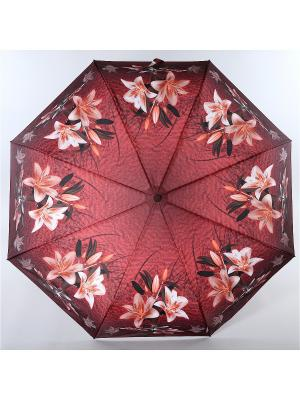 Зонт Trust. Цвет: бордовый, белый, черный