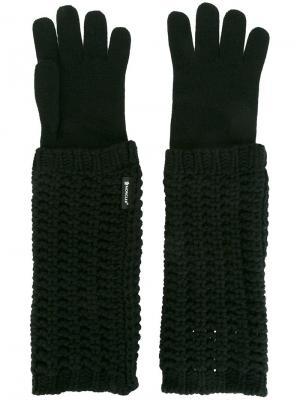 Удлиненные трикотажные перчатки Moncler. Цвет: чёрный