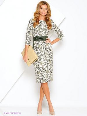 Платье Xarizmas. Цвет: зеленый, белый