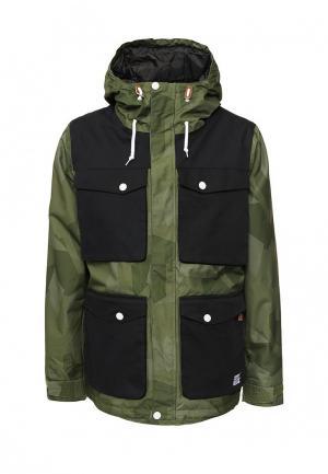 Куртка горнолыжная CLWR. Цвет: зеленый