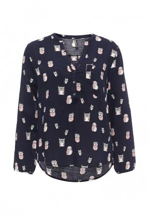 Блуза Moda Corazon. Цвет: синий