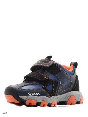Кроссовки GEOX. Цвет: темно-синий, оранжевый