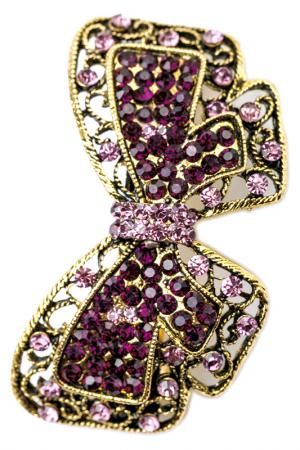 Винтажная заколка FRANSUA ARDY. Цвет: фиолетовый