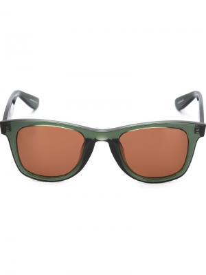 Солнцезащитные очки Charles Krewe Du Optic. Цвет: зелёный