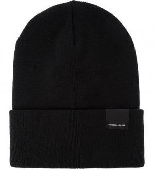Черная шапка-бини из шерсти Canada Goose. Цвет: черный