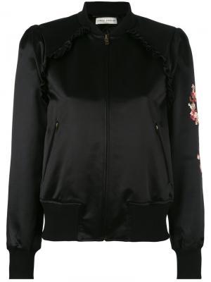 Куртка-бомбер  с цветочной вышивкой Veronique Branquinho. Цвет: чёрный