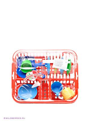 Большой набор посуды FARO. Цвет: красный
