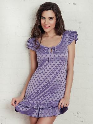 Ночная сорочка Laete. Цвет: сиреневый