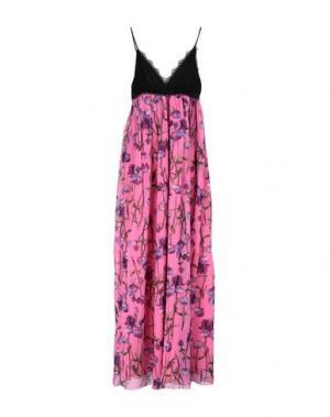 Длинное платье PINKO. Цвет: фуксия