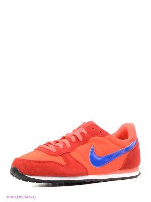 Кроссовки GENICCO Nike. Цвет: красный