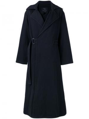 Длинное пальто Yohji Yamamoto Vintage. Цвет: чёрный