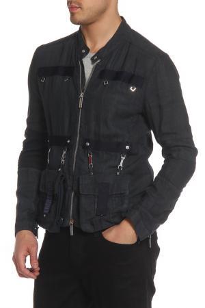 Куртка Bikkembergs. Цвет: синий серый