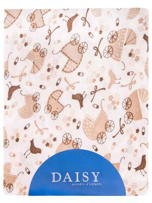 Пеленка Колясочки DAISY. Цвет: светло-коричневый, бежевый, светло-бежевый