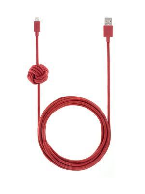 Кабель зарядный с фиксатором положения, размер 3 м., красный ,NCABLE-L-RED NIGHT CABLE Native Union. Цвет: красный