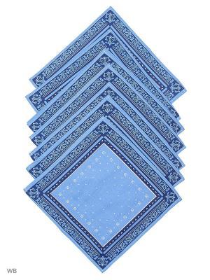 Набор платков носовых мужских Римейн. Цвет: темно-синий, голубой, оранжевый