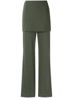 Flared trousers Osklen. Цвет: зелёный