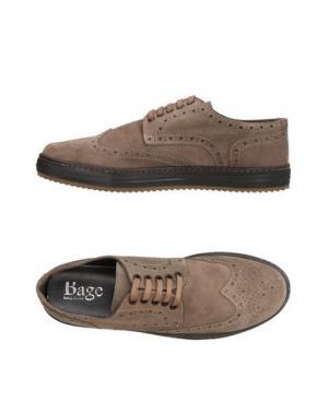 Обувь на шнурках BAGE. Цвет: серый
