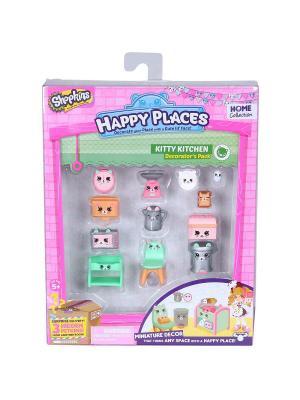 Игровой набоор для декора Happy Places Петкинс  Кухня Китти Moose. Цвет: розовый