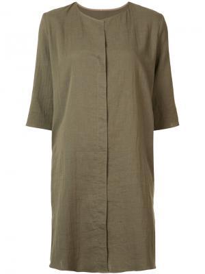 Платье-рубашка Peter Cohen. Цвет: зелёный