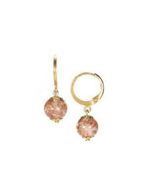 Серьги Amato цвет (376 pink) Bottega Murano. Цвет: розовый, золотистый