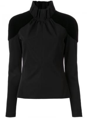 Блузка Stripe Sabre Bianca Spender. Цвет: чёрный