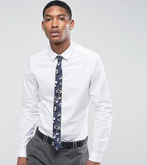 ASOS Белая облегающая рубашка с темно-синим галстуком цветочным принтом A. Цвет: белый
