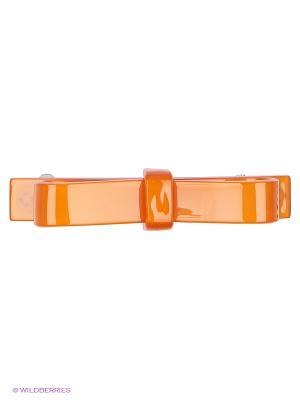 Заколка-автомат Lastoria. Цвет: оранжевый