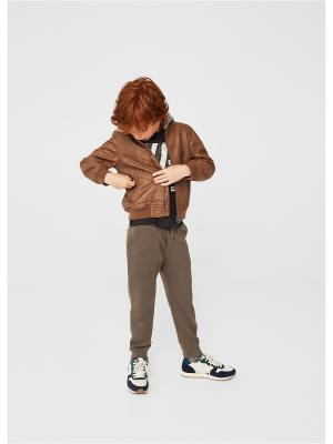 Куртка - HOODIE1 Mango kids. Цвет: коричневый