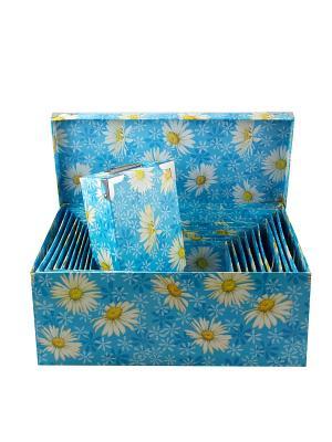 Комплект коробок-сундучков из 12шт. Ромашки Русские подарки. Цвет: синий