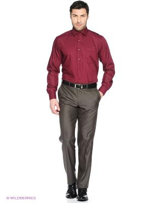 Рубашка Hans Grubber. Цвет: бордовый