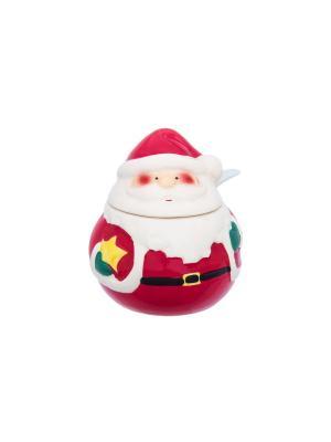 Баночка для специй Дед Мороз Elan Gallery. Цвет: красный, белый, зеленый