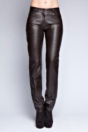 Кожаные брюки Giorgio. Цвет: brown
