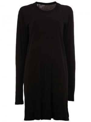 Платье с длинными рукавами 11 By Boris Bidjan Saberi. Цвет: чёрный