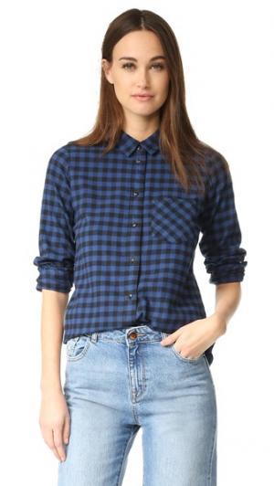 Узкие рубашка на пуговицах Madewell. Цвет: голубой