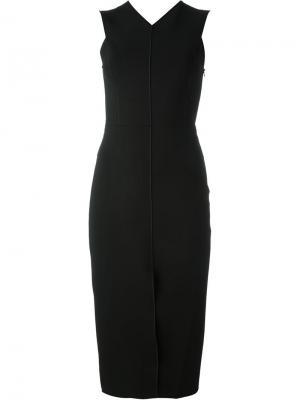 Приталенное платье c V-образным вырезом Rag & Bone. Цвет: чёрный
