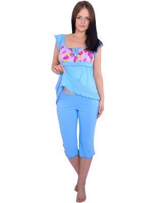 Пижама Flammber. Цвет: голубой