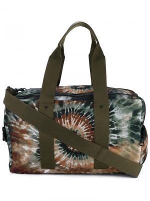 Дорожная сумка с узором тайдай Valentino. Цвет: зелёный