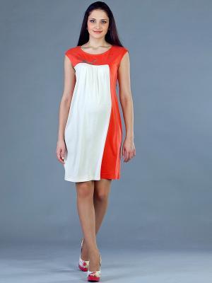 Платье UNIOSTAR. Цвет: рыжий, молочный