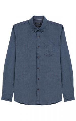 Синяя хлопковая рубашка Al Franco