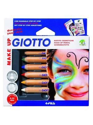 Giotto make up classic набор из 6 классических цветов карандашей для грима FILA. Цвет: желтый, красный, черный