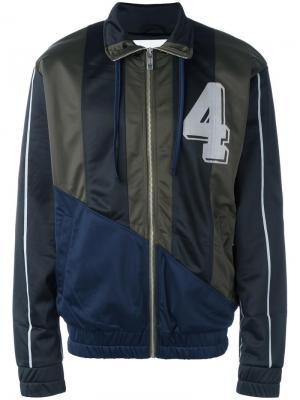 Спортивная куртка с панельным дизайном Han Kjøbenhavn. Цвет: синий