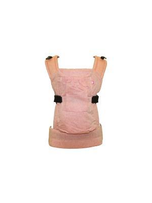 Эрго-рюкзак BiBi-Лайт ЛЁН (до 14кг) Риббис. Цвет: персиковый